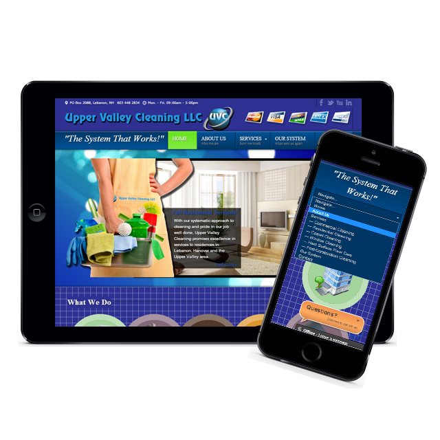 Image of Upper Valley Cleaning Responsive Website
